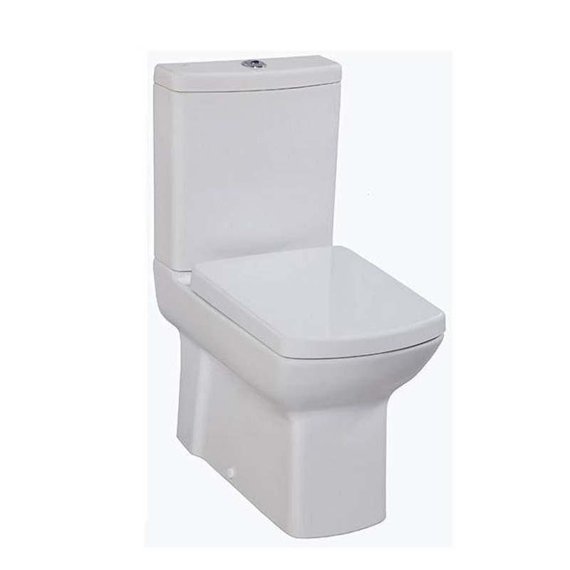 Banio lara wit staande wc kompleet muur onder uitgang banio salle de bain badkamers - Muur wc ...