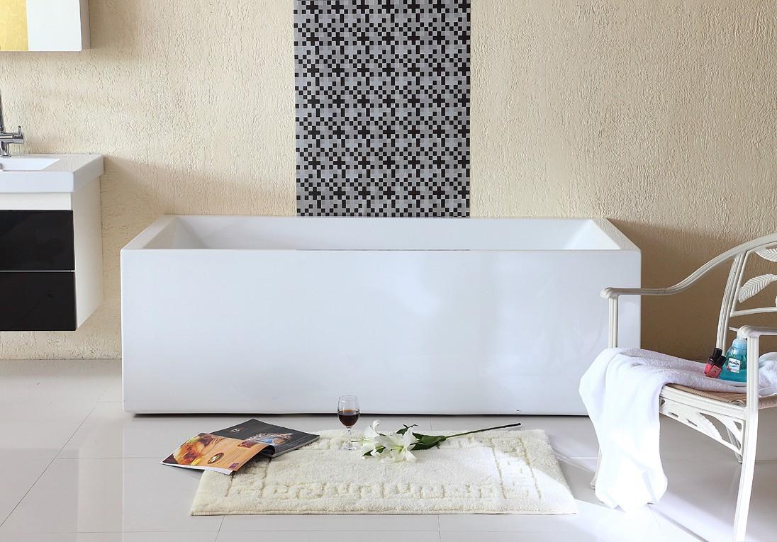 Baignoire samy lot centrale de 180x80x58 cm banio salle for Baignoire ilot ceramique