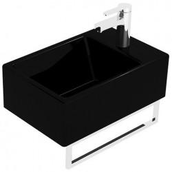 Villeroy & Boch Memento Lave-mains Glossy Black New Glory Platinum CeramicPlus