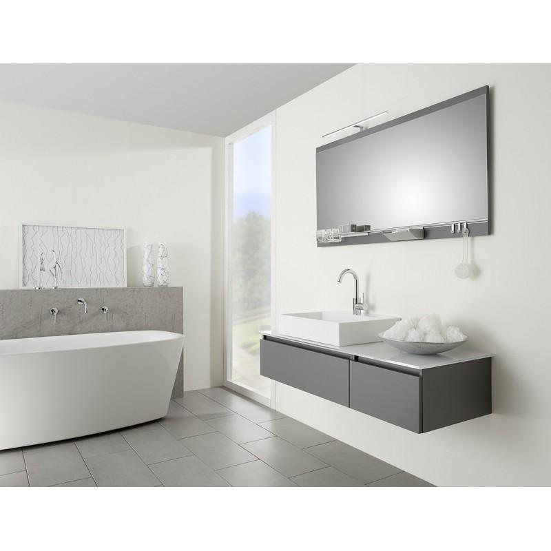 Meuble de salle de bain pelipal contigo suspendue vasque - Meuble salle de bain en verre ...
