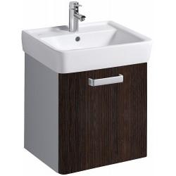 KERAMAG Meuble sous lavabo Plan 485mm, avec roulement, wengé