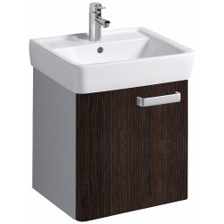 KERAMAG Meuble sous lavabo Plan 485mm, avec 1porte, wengé