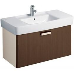KERAMAG Meuble sous lavabo Plan 930mm, avec tiroir, wengé