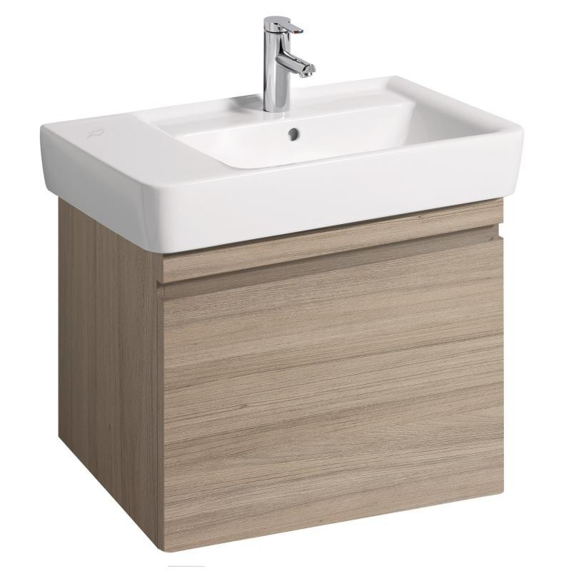 Keramag meuble sous lave mains ren plan 676x586mm orme for Meuble sous lave mains