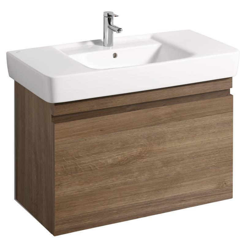 Keramag meuble sous lave mains ren plan 926x586mm ch ne for Meuble sous lave main