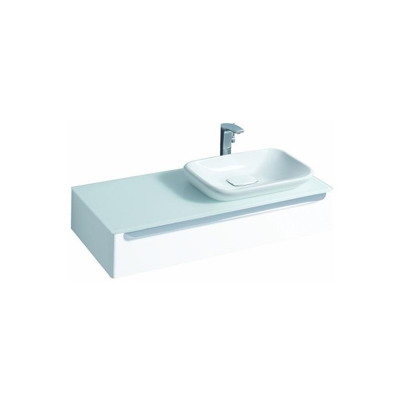 keramag meuble sous lavabo myday 1150mm droite blanc. Black Bedroom Furniture Sets. Home Design Ideas