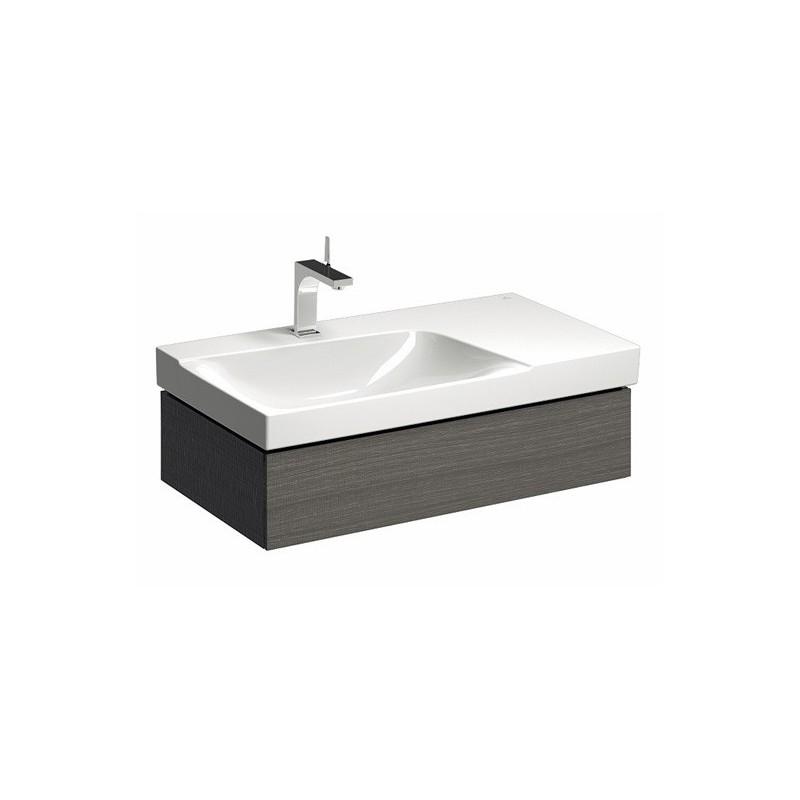 keramag meuble sous lavabo xeno 880 1 tiroir gris ext gauche. Black Bedroom Furniture Sets. Home Design Ideas
