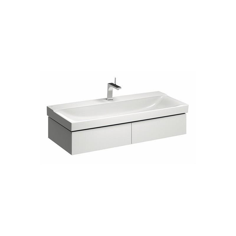 keramag meuble sous lavabo xeno 1174x220mm 2 tiroirs blanc. Black Bedroom Furniture Sets. Home Design Ideas