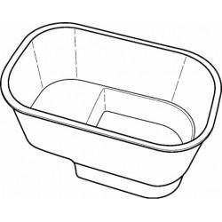 KERAMAG Receveur de douche avec assise 715x465x395mm