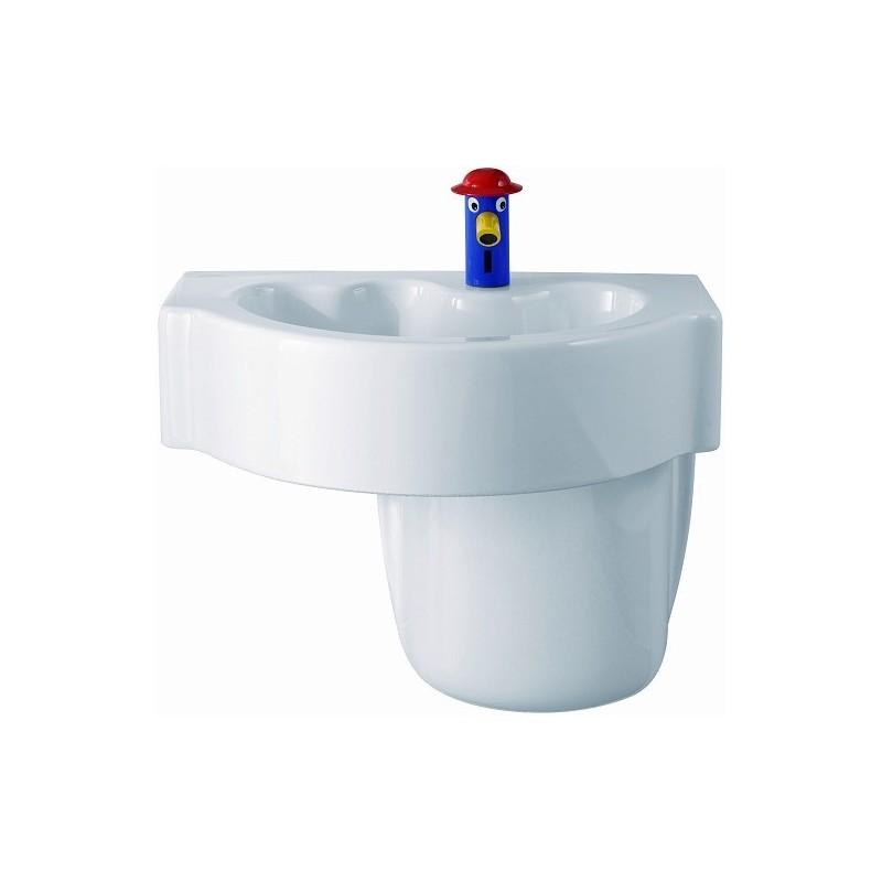 keramag lavabo kind 600x400mm avec trou sans trop plein. Black Bedroom Furniture Sets. Home Design Ideas
