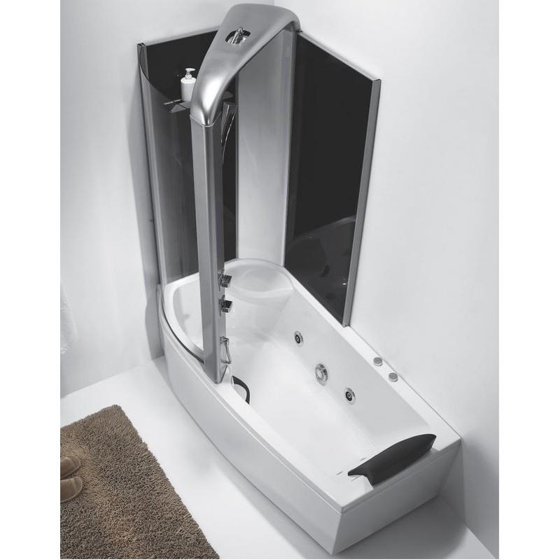 massagebad met douche alexie 160 cm or9501b. Black Bedroom Furniture Sets. Home Design Ideas