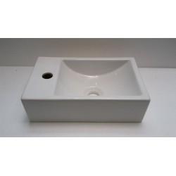 Banio lave mains rectangulaires avec plage à gauche 37x23cm
