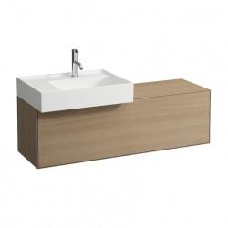 LAUFEN Boutique Meuble sous lavabo, avec un tiroir, avec découpe à gauche, avec siphon compact