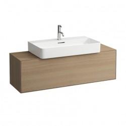 LAUFEN Boutique Meuble sous lavabo, avec un tiroir, avec découpe centrale, avec siphon compact 120x380