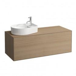 LAUFEN Boutique Meuble sous lavabo, avec un tiroir, avec découpe à gauche, avec siphon compact, 1200x500, bois
