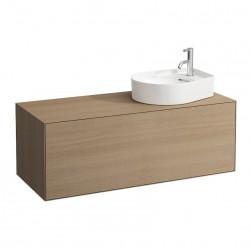 LAUFEN Boutique Meuble sous lavabo, avec un tiroir, avec découpe à droite, avec siphon compact 120x50 bois