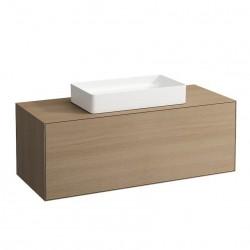 LAUFEN Boutique Meuble sous lavabo, avec un tiroir, avec découpe centrale, avec siphon compact 120x50 bois