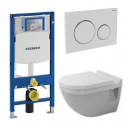 Pack Geberit avec DURAVIT Pack WC suspendu STARCK 3 abattant soft close