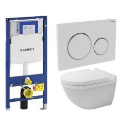 Pack Geberit avec DURAVIT PACK WC suspendu STARCK 3 RIMLESS