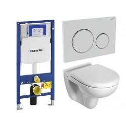 Pack Geberit avec Toilette suspendue ideal standard blanc avec abattant compris