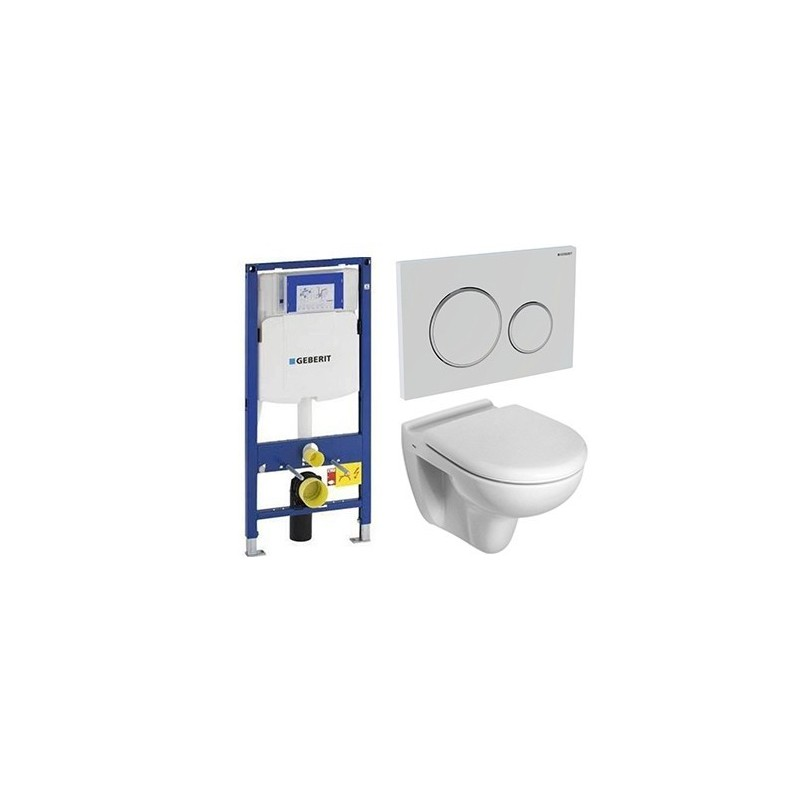 Geberit pack avec toilette suspendue ideal standard blanc - Pack toilette suspendu ...