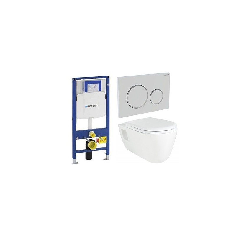 geberit pack duofix met design hangtoilet wit banio badkamer. Black Bedroom Furniture Sets. Home Design Ideas