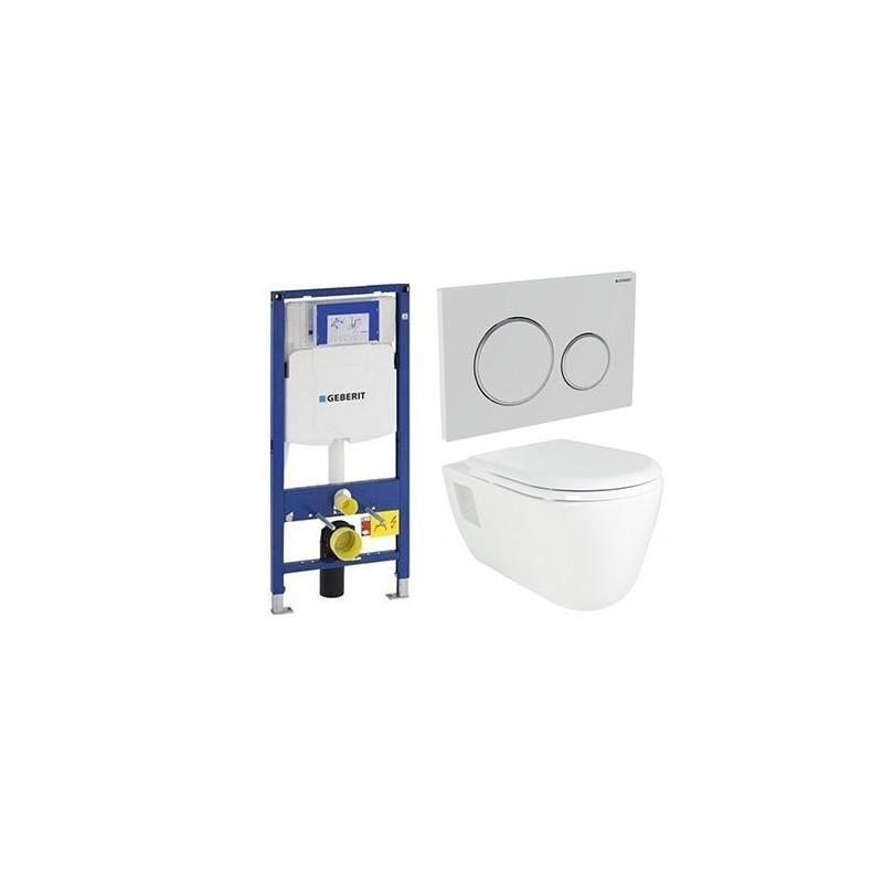 geberit pack duofix met design hangtoilet wit banio badkamer. Black Bedroom Furniture Sets. Home Design Ideas