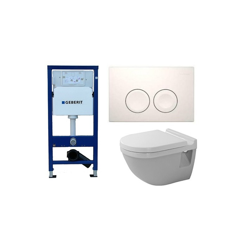 geberit pack duofix delta avec duravit pack wc suspendu starck 3 abattant soft close. Black Bedroom Furniture Sets. Home Design Ideas
