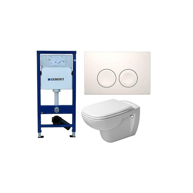 pack geberit duofix delta met wand wc duravit rimless. Black Bedroom Furniture Sets. Home Design Ideas