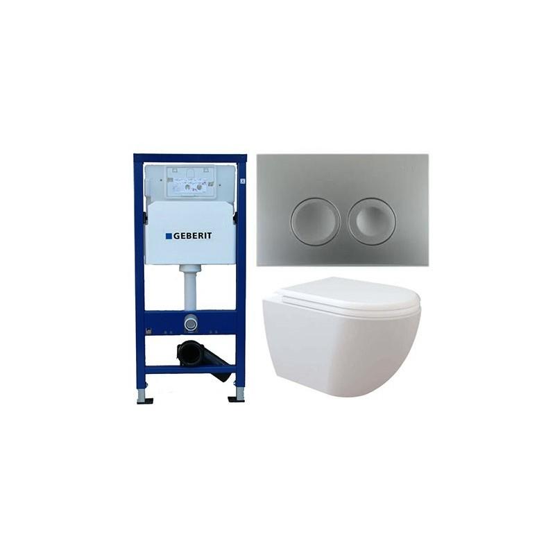 pack geberit duofix delta chroom met creavit design ophang wc verborgen bevestiging met wc. Black Bedroom Furniture Sets. Home Design Ideas