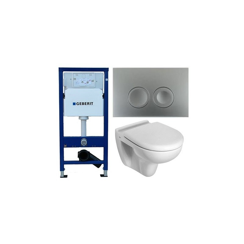 pack wc geberit duofix delta chrom avec toilette suspendue ideal standard blanc avec abattant. Black Bedroom Furniture Sets. Home Design Ideas