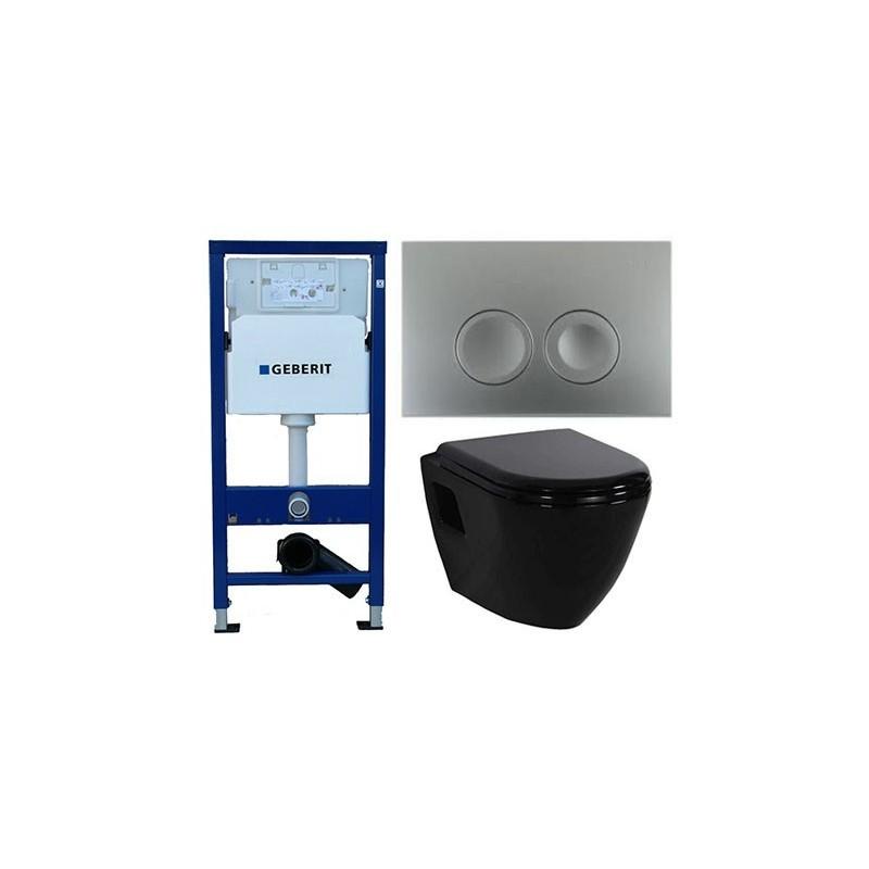 pack geberit duofix delta chroom metcreavit design ophang wc zwart. Black Bedroom Furniture Sets. Home Design Ideas