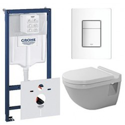 pack grohe rapid sl avec duravit pack wc suspendu starck 3 abattant soft close. Black Bedroom Furniture Sets. Home Design Ideas