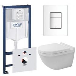 Pack Grohe Rapid SL avec DURAVIT PACK WC suspendu STARCK 3 RIMLESS