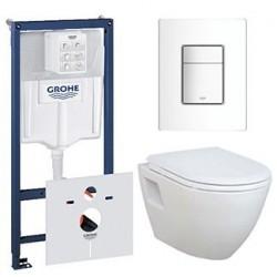 Pack Grohe Rapid SL met Creavit design ophang wc met wc-zitting softclose