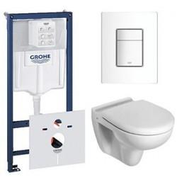 Pack Grohe Rapid SL avec Toilette suspendue ideal standard blanc avec abattant compris