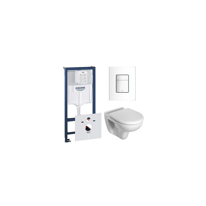 grohe pack rapid sl avec wc suspendue ideal standard blanc avec abattant compris. Black Bedroom Furniture Sets. Home Design Ideas