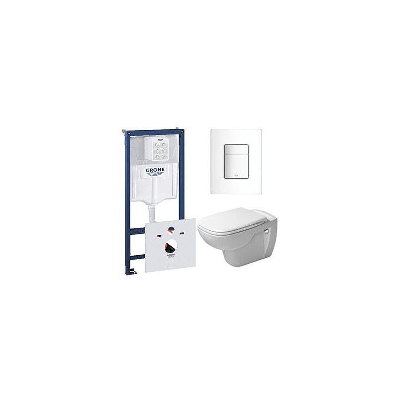 pack grohe rapid sl avec duravit pack d code cuvette suspendue et lunettes. Black Bedroom Furniture Sets. Home Design Ideas