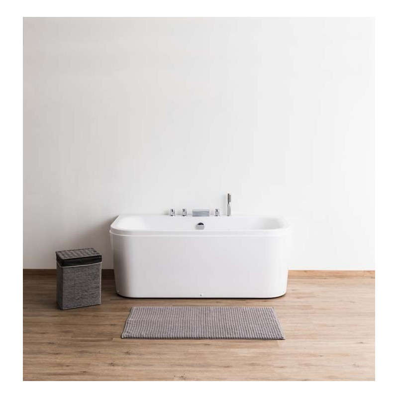 baignoire hilda de 171x80x62 cm block un seul mur finition 3 cot s avec robinet. Black Bedroom Furniture Sets. Home Design Ideas