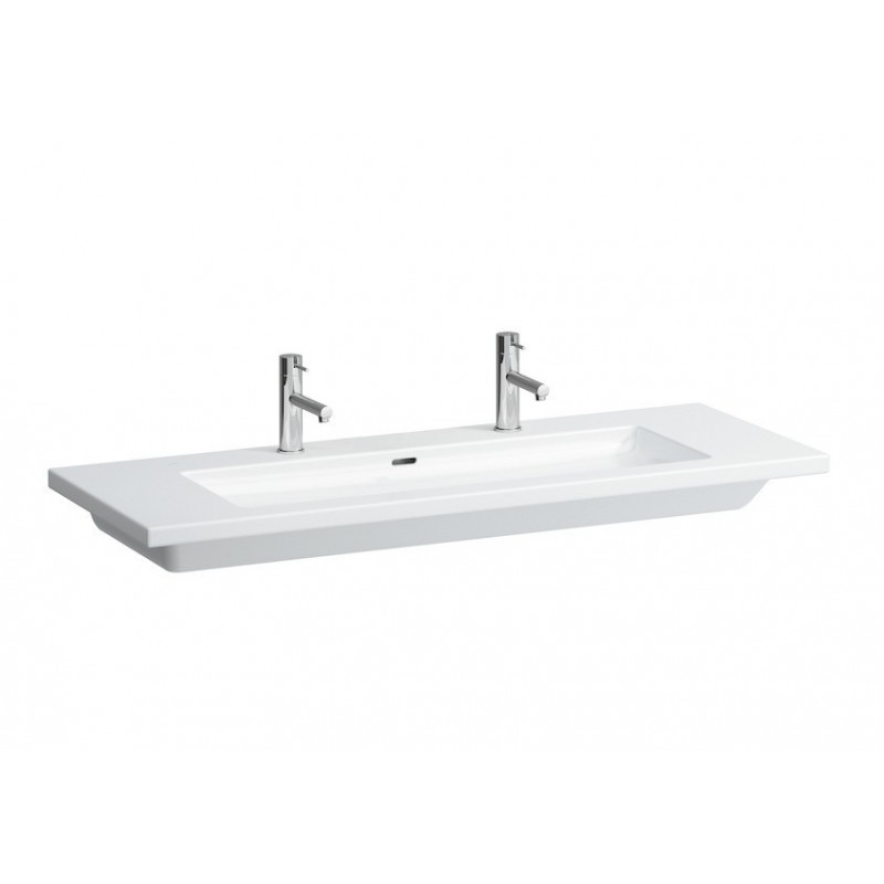 Laufen living lavabo poser sur meuble 130x48 for Lavabo sur meuble