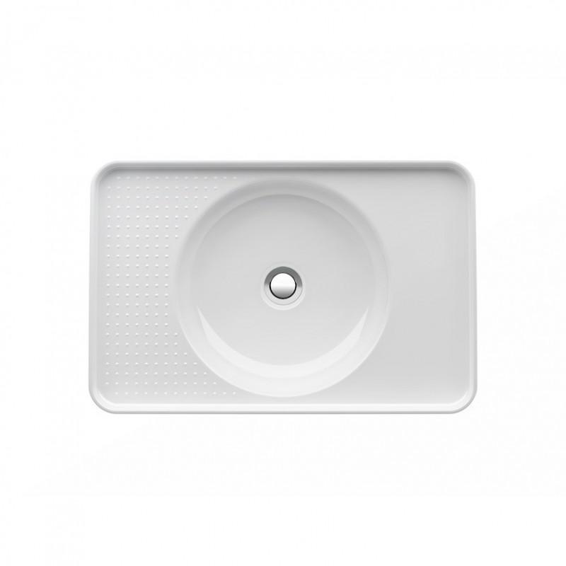 laufen val lavabo encastrer par dessus 550x360 saphirkeramik. Black Bedroom Furniture Sets. Home Design Ideas