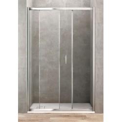 Porte de douche coulissante de 120 cm de large vitrage 6 mm
