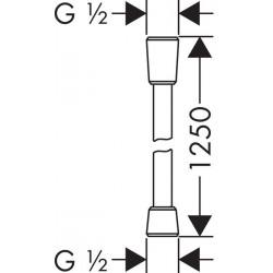 Hansgrohe Isiflex 1.25m