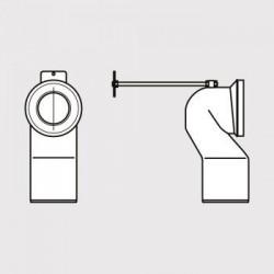 Ideal Standard Acc.Divresen Coude de raccordement WC sur pied sortie H de 120 à 150 mm