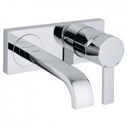 "Grohe Allure greepelement en baduitloop voor wastafel ½"", tweegatsmontage, wandmontage, sprong: 172 mm, chroom"