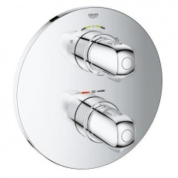 Grohe Grohtherm 1000 New Set de finition pour mitigeur thermostatique avec 2 sorties (douche de tête/pomme de douche)  - oblig
