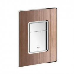 grohe plaque de commande cosmo wood pour wc 156 x 197 mm montage vertical ou horizontal. Black Bedroom Furniture Sets. Home Design Ideas