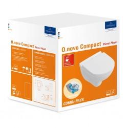 Villeroy & boch combipack  hangwc  O.novo compact directfluch met closetzitting solfclosing