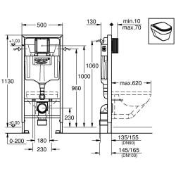 grohe rapid sl bati support pour wc suspendu. Black Bedroom Furniture Sets. Home Design Ideas