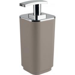 Gedy Seventy Distributeur de savon Tourterelle avec distributeur en plastique chromé